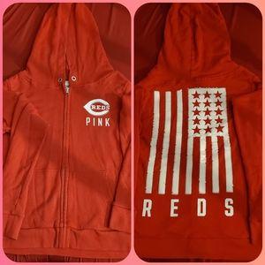 Women's PINK Cincinnati Reds Full Zip
